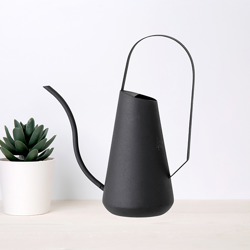 Matte Black Textured Watering Can
