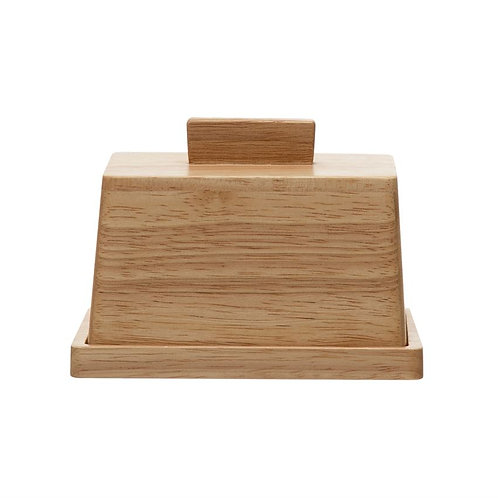 Wood Butter Dish