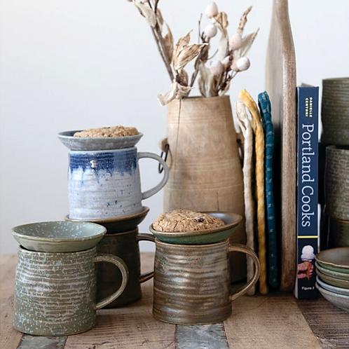 Stoneware Mug + Snack Plate Set