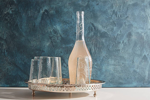 Recycled Moroccan Handblown Champagne Glass Set (set of 6)