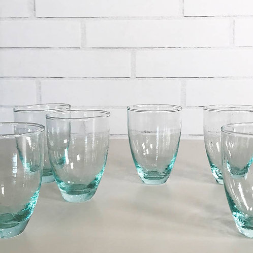 Recycled Moroccan Handblown Stemless Wine Glass Set (set of 6)