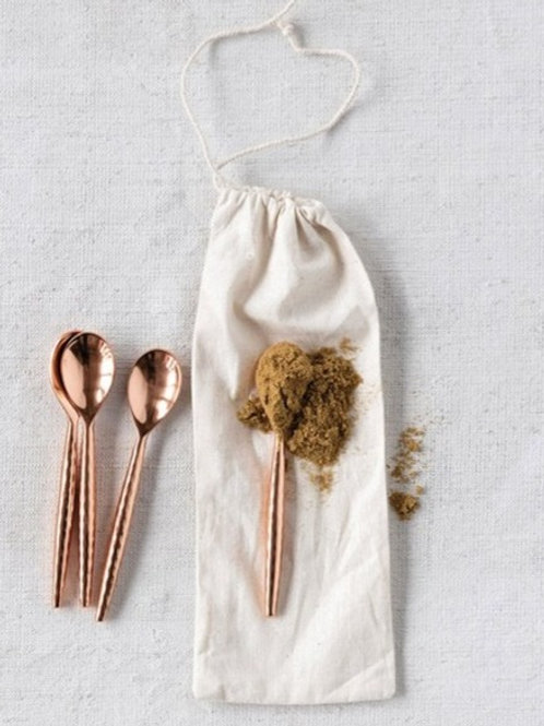 Mini Copper Spoons (set of 4)