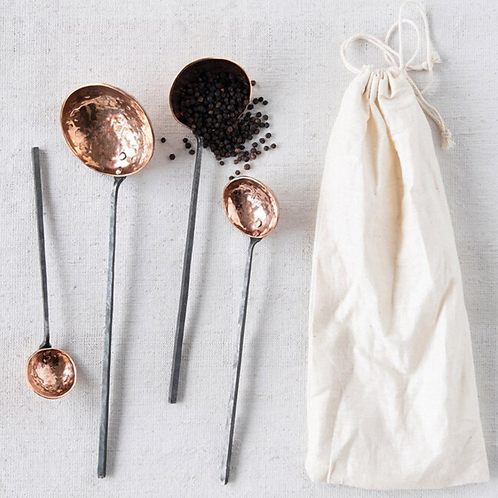 Copper Ladles with Metal Handles