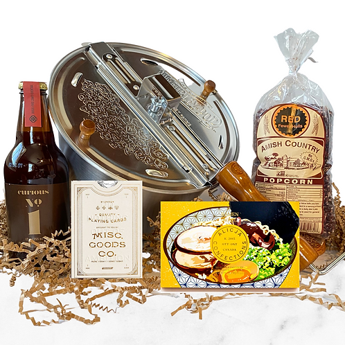Night In Snack + Game Gift Box w/ Ramen Chocolate