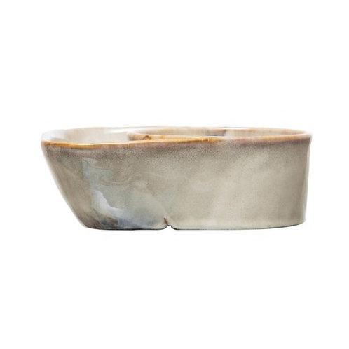 Ceramic Soup and Cracker Bowl