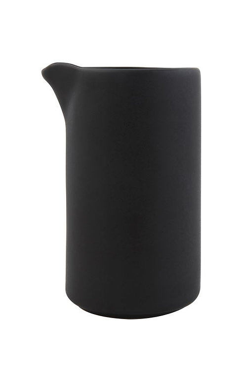 Black Stoneware Creamer Vase
