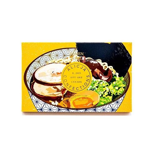 Ramen Bowl Milk Postcard Chocolate Bar | Unique Candy | Chocolate | Stocking Stu