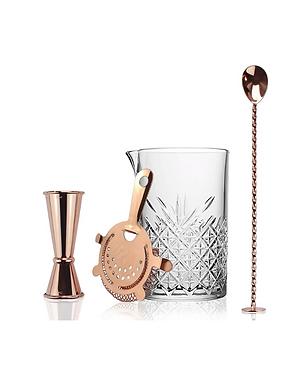 Copper Mixology Bar Set