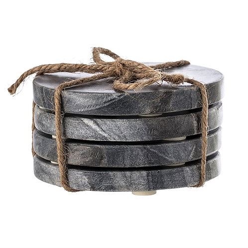 Black Marble Coasters (set of 4)