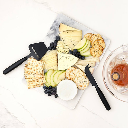 Matte Black Cheese Knife Set