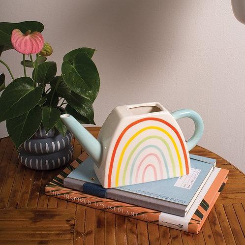Matte Ceramic Rainbow Watering Can