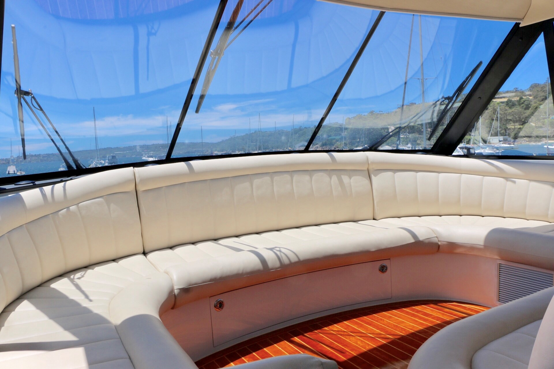 Enclosed luxury flybridge