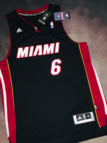 Adidas Miami Heat Lebron James Road Swingman Jersey