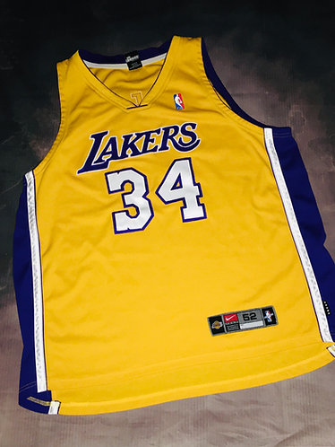 Nike LA Lakers Shaquille O'neal Home Jersey