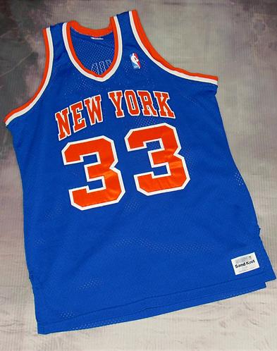 Medalist Sand Knit NY Knicks Patrick Ewing Road Jersey