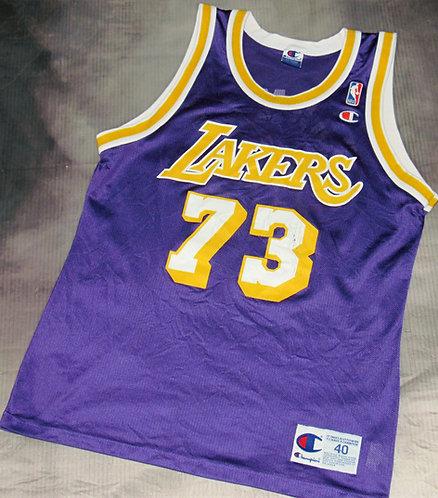Champion Los Angeles Lakers Dennis Rodman Road Jersey