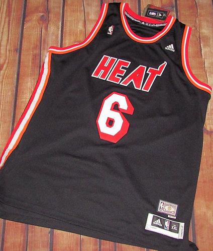 Adidas Miami Heat Lebron James Hardwood Classics Jersey