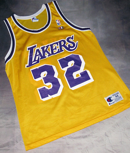 Champion Los Angeles Lakers Magic Johnson Home Jersey