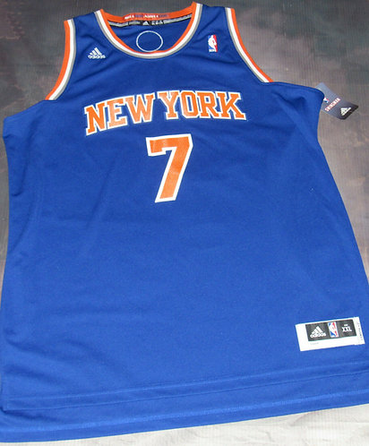 Adidas Knicks Carmelo Anthony Road Jersey