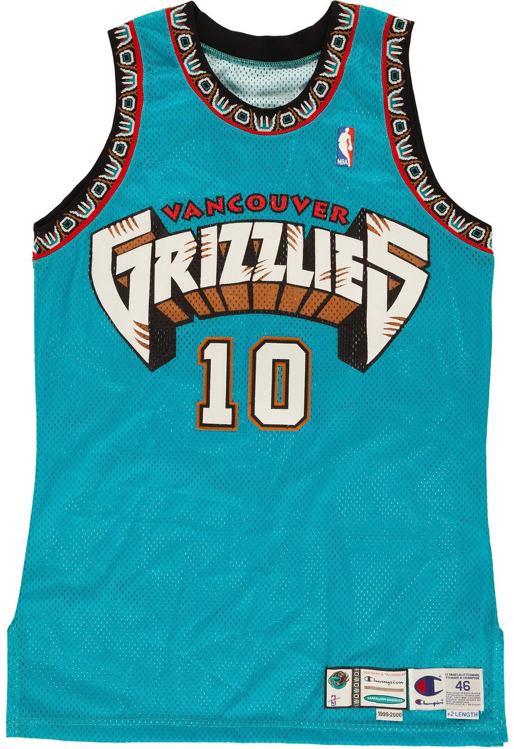Vancouver Grizzlies Jerseys