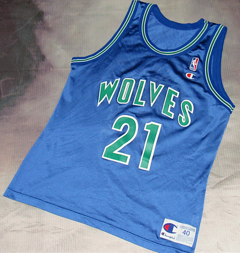 Champion Minnesota Timberwolves Kevin Garnett Road Jersey
