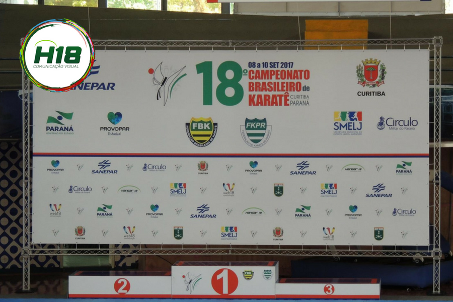 BackDrop Campeonato de Karatê