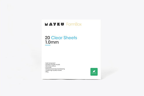 Mayku FormBox Clear Sheets 1.0mm (20 Pack)