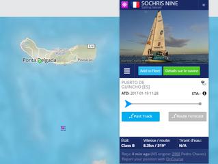 Sochris Nine arrive à Ponta Delgada