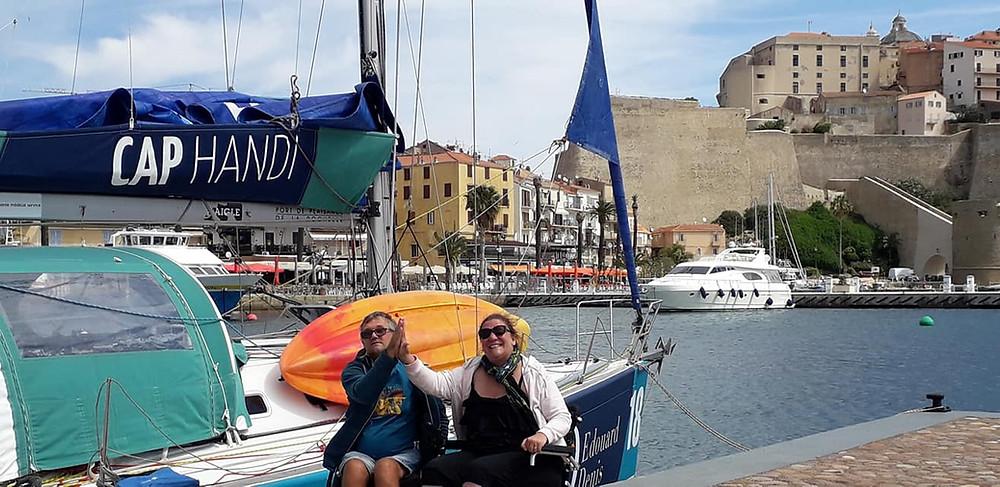Dorine et Joël à quai à Calvi