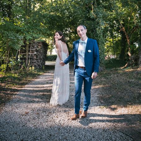 Mariage, badminton et sous-bois
