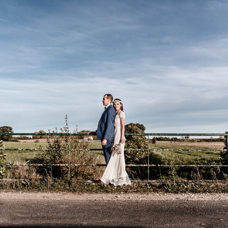 Mariage au soleil d'automne