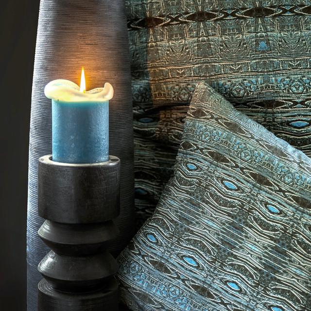 Kissen: Urban Flame blau