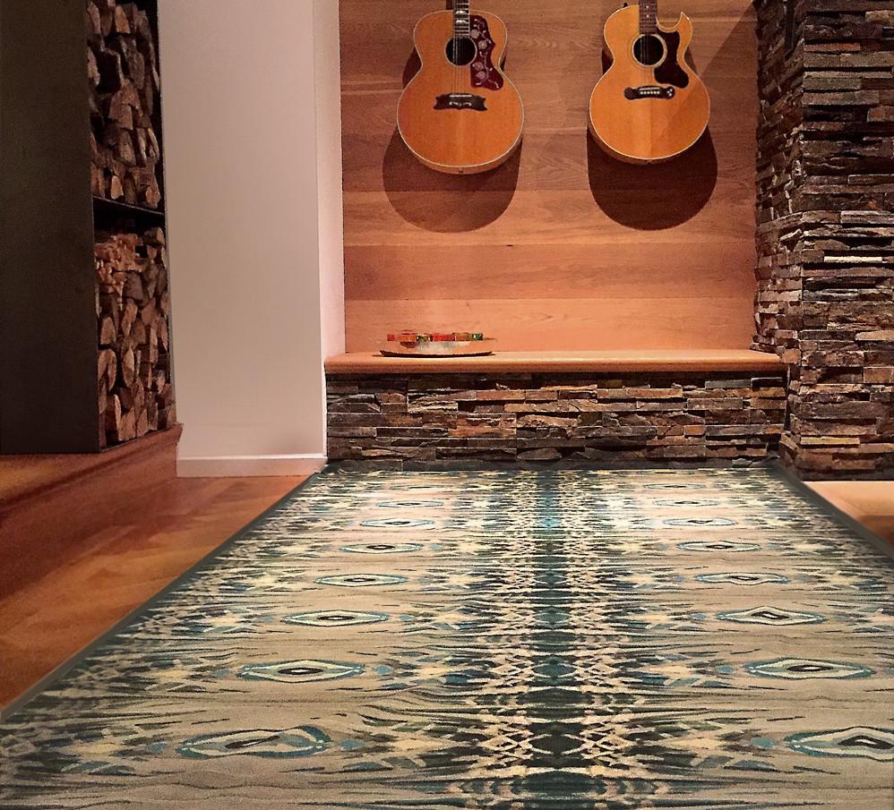 Stoffdesign Baboom als Teppich