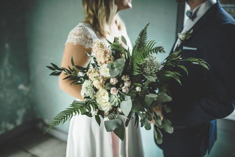 Bouquet de mariée végétal