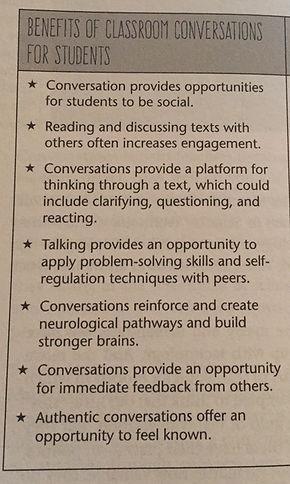 Getting Beyond Blank Stares: Help Students Negotiate Conversations