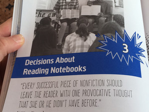 Making the Most of Reading Notebooks