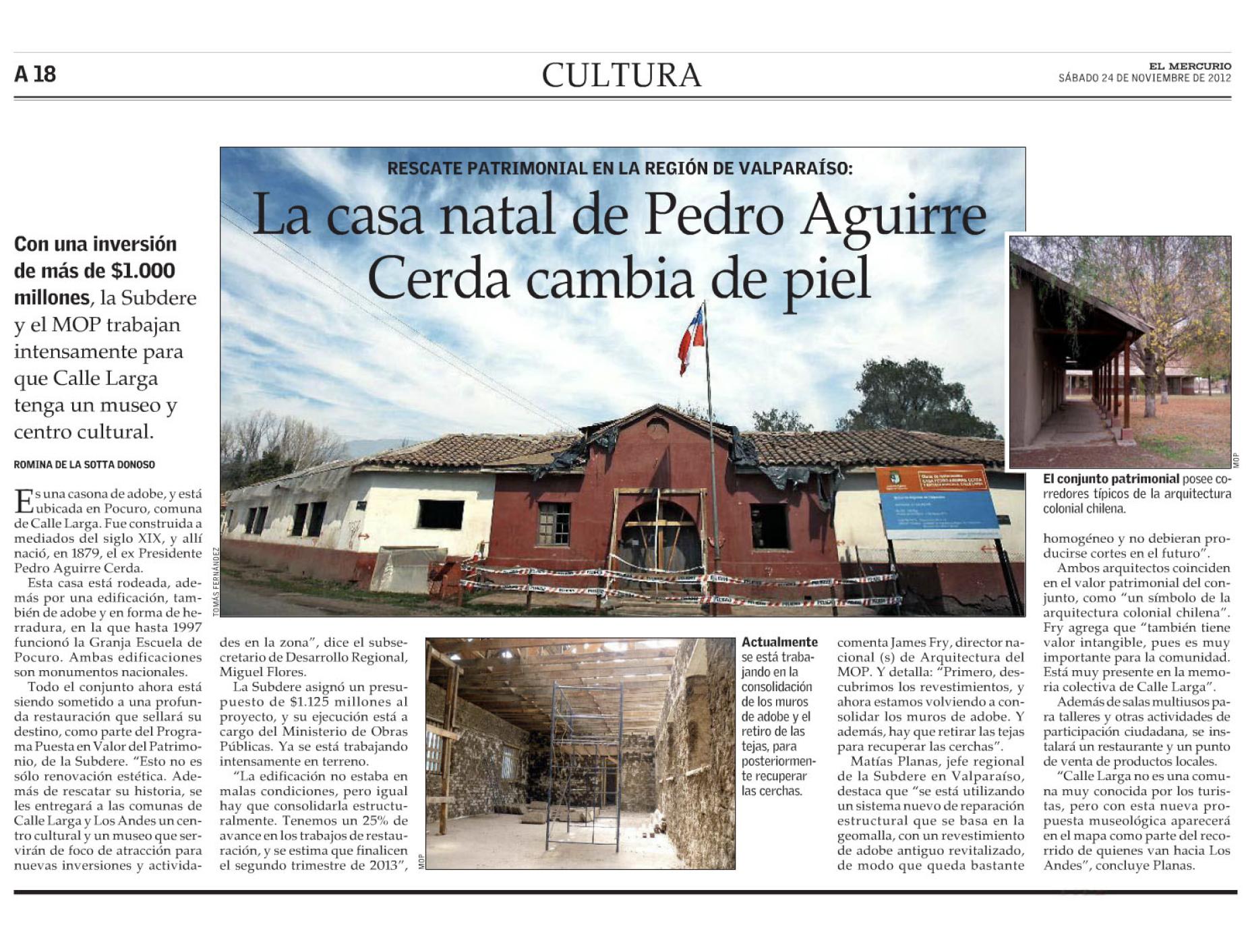 La casa natal de Pedro Aguirre Cerda cambia de piel.