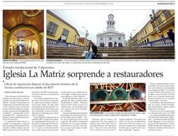 Iglesia La Matriz sorprende a restauradores.