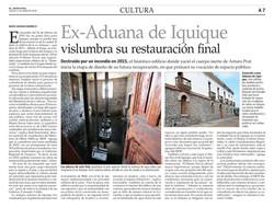 Ex-Aduana de Iquique vislumbra su restauración final