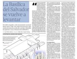 Basílica del Salvador se vuelve a levantar.