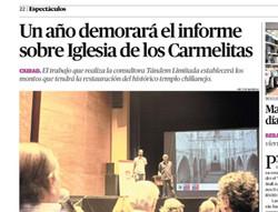 Un año demorará el informe sobre Iglesia de los Carmelitas