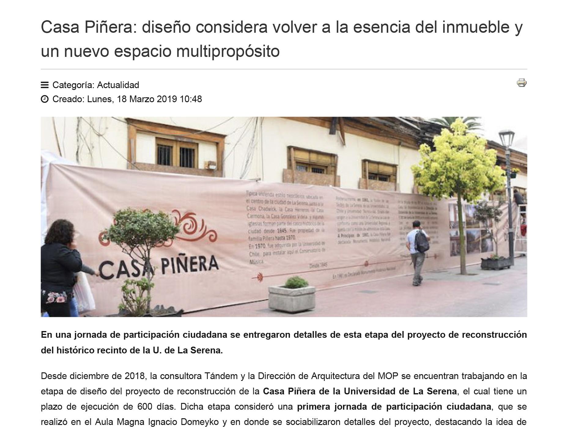 Casa Piñera: diseño considera volver a la esencia del inmueble y un nuevo espacio multipropósito