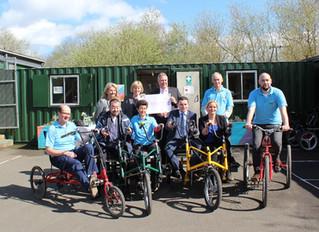 Chamber raises £3,500 for Pedal Power