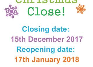 Christmas Close!