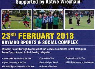 Wrexham County Borough Council Sports Awards 2018 Nominations