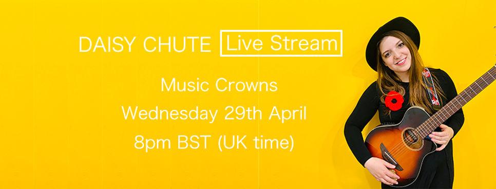 Daisy Chute - Banner - Music Crown 2 sma