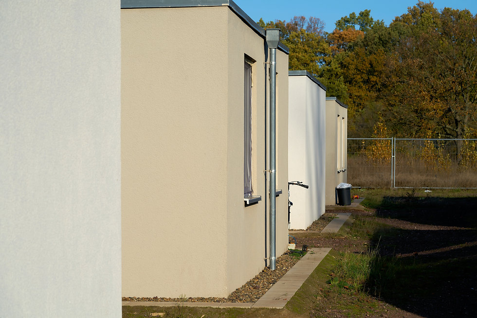 Emergency accommodation for refugees at the edge of the city of Magdeburg in Germany.jpg