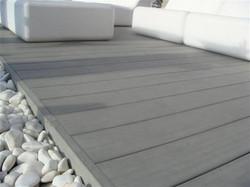 terrasse en lame composite gris silvadec