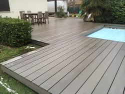 terrasse en composite sylvadec bordeaux terrasse bois