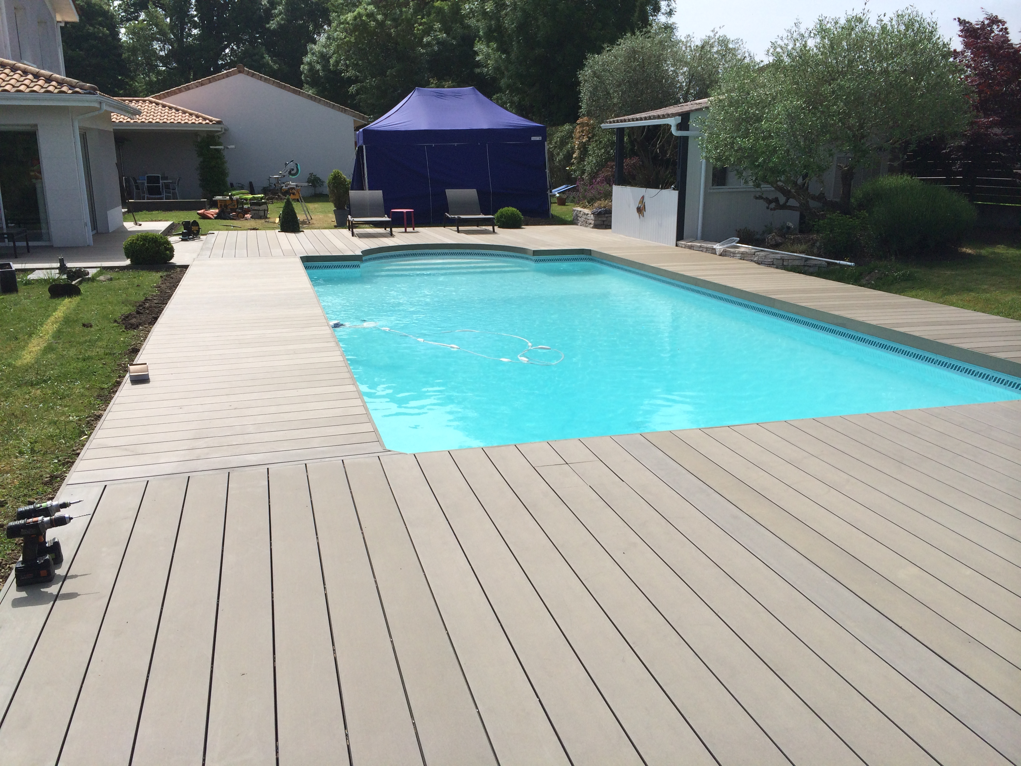 terrasse composite sylvadec carbon blanc